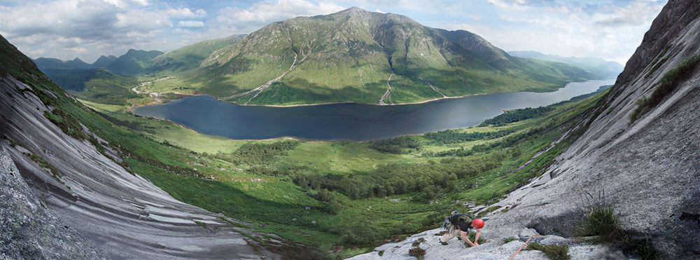 Glen Etive from top of the slabs, 119 kb
