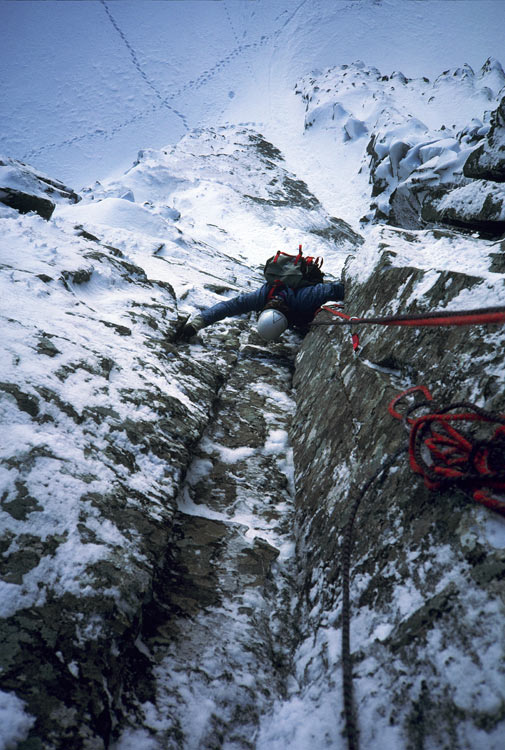 Neanderthal, Glen Coe, First Ascent, 114 kb