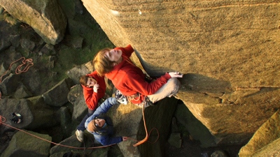 James Pearson, first ascent of Promise E10 7a, Burbage North, 108 kb