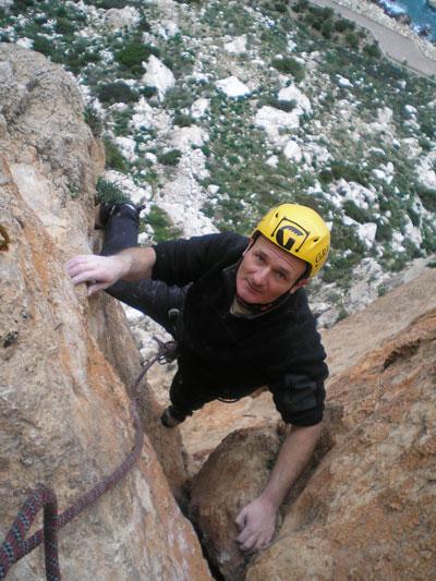 Mick Ryan climbing on the Peñon de Ifach on the Costa Blanca, 74 kb