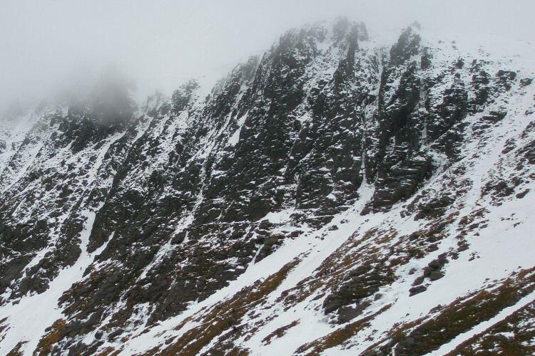 Coire an t-Sneachda from below Fiacaill Ridge, 107 kb