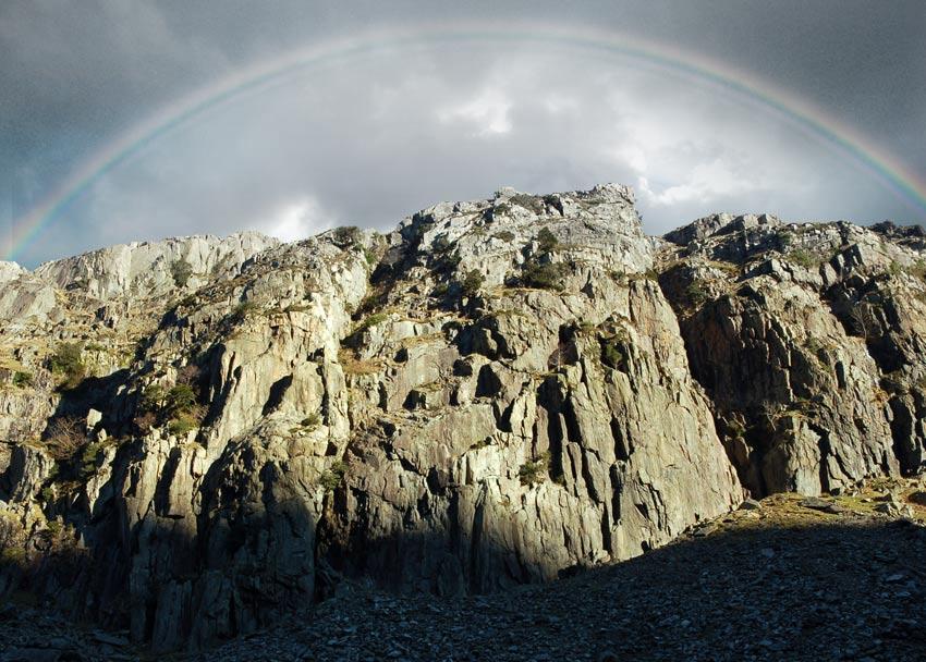 Clogwyn y Grochan, Llanberis Pass, 123 kb