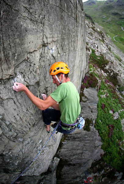 Jack Geldard on the first ascent of Rocky E8 6c, 107 kb