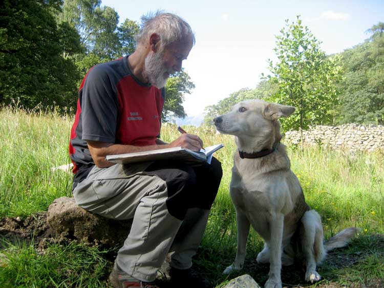Sir Chris Bonington and Tufa the Dog, 71 kb