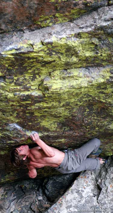 Daniel Woods first ascent if Jade, V15, RMNP, Colorado, 51 kb