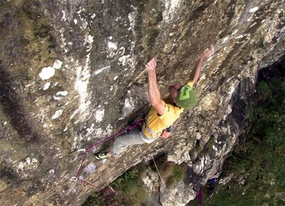 Dave MacLeod on If 6 was 9, Iron Crag, The Lake District, England, 47 kb