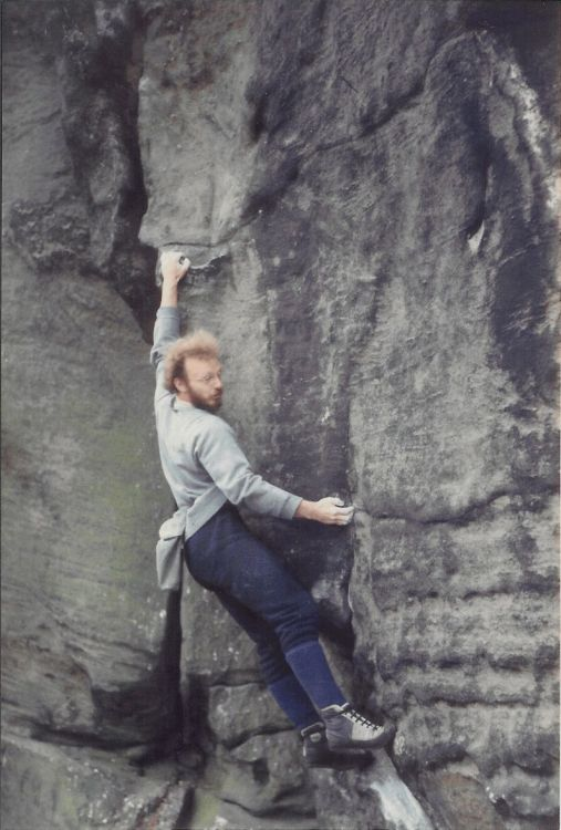 Duncan Drake soloing Wall of Horrors, E36a, 64 kb