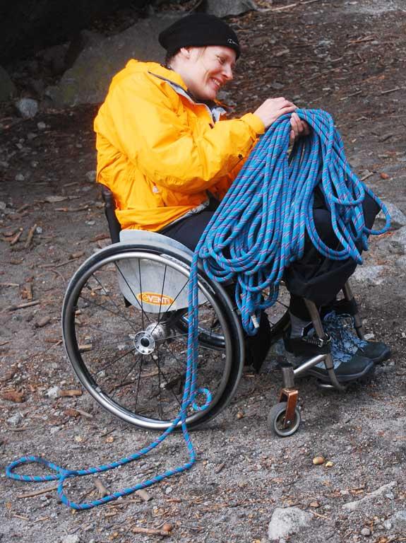 Karen Darke in Camp 4, Yosemite, California., 89 kb
