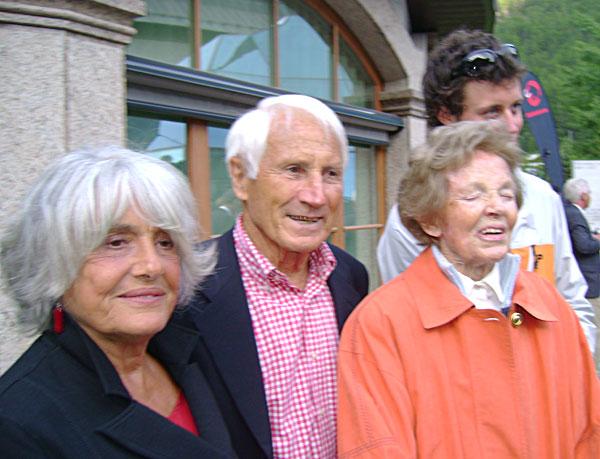Paula Biner with Walter Bonatti and Rossana Podesta, 67 kb
