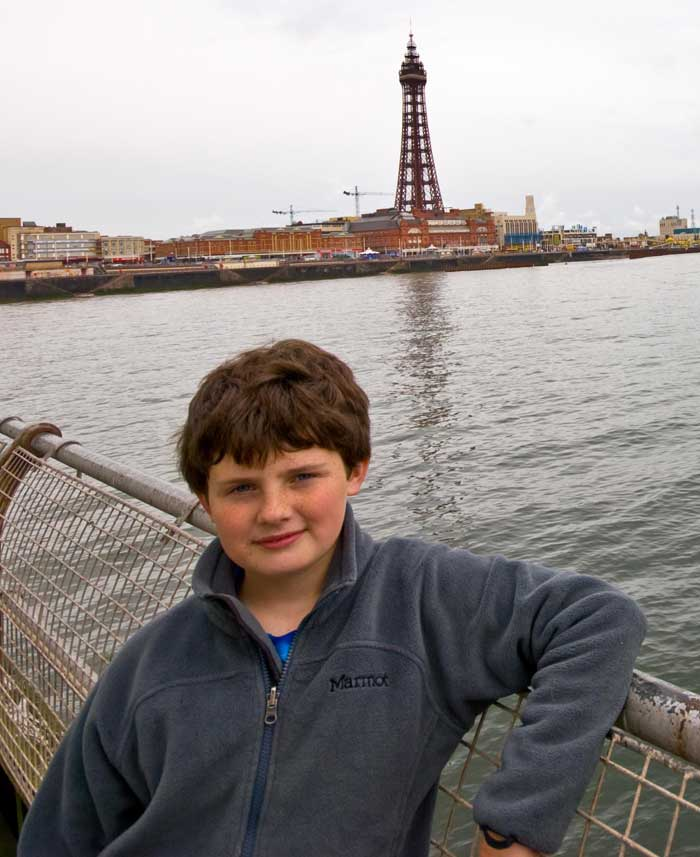 Blackpool Tower (and Xavier Ryan), 62 kb