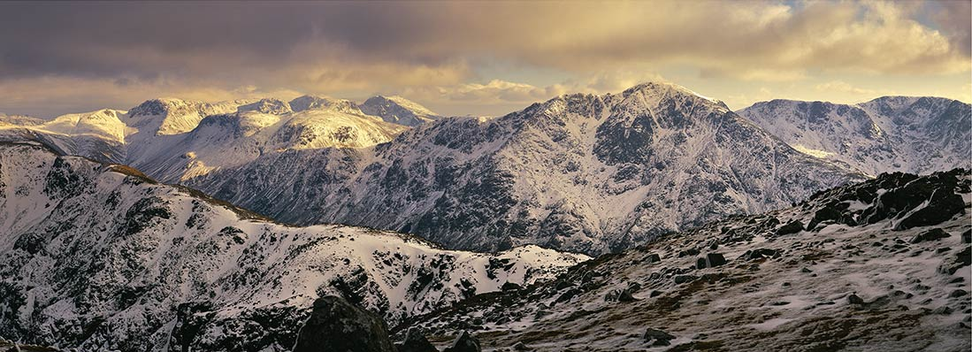 Pillar and Scafell in Winter, 119 kb
