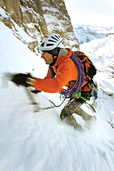 Ueli Steck on the Eiger speed ascent, 35 kb