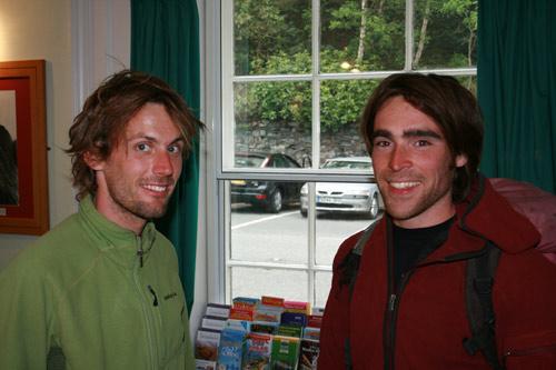 Nico and Sean at Plas y Brenin, 46 kb