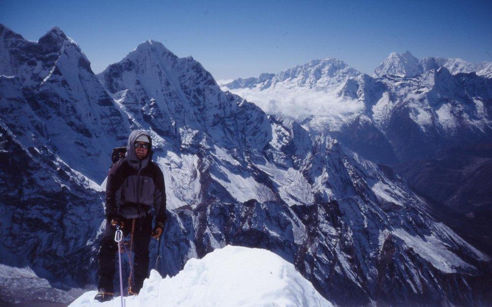 tim colquhoun  climbing Ama Dablam, 115 kb