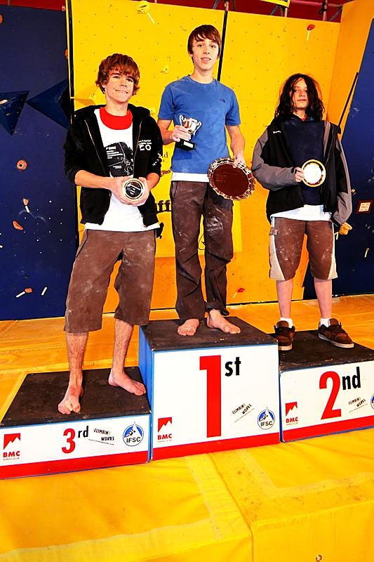 Junior Boys: British Bouldering Championships at Cliffhanger 2008: 1st JonathanStocking: 2nd NathanPhillips: 3rd LukeTilley, 187 kb