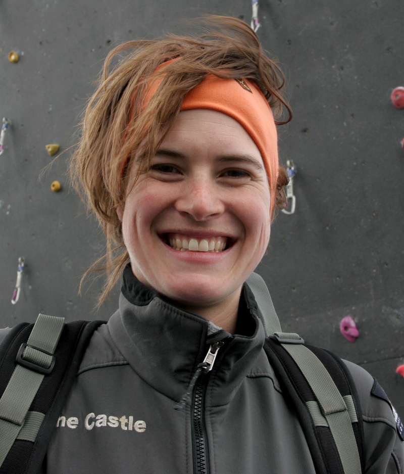 Audrey Seguy, winner of the British Bouldering Championship 2008 and British Lead Climbing Championships 2008, 211 kb