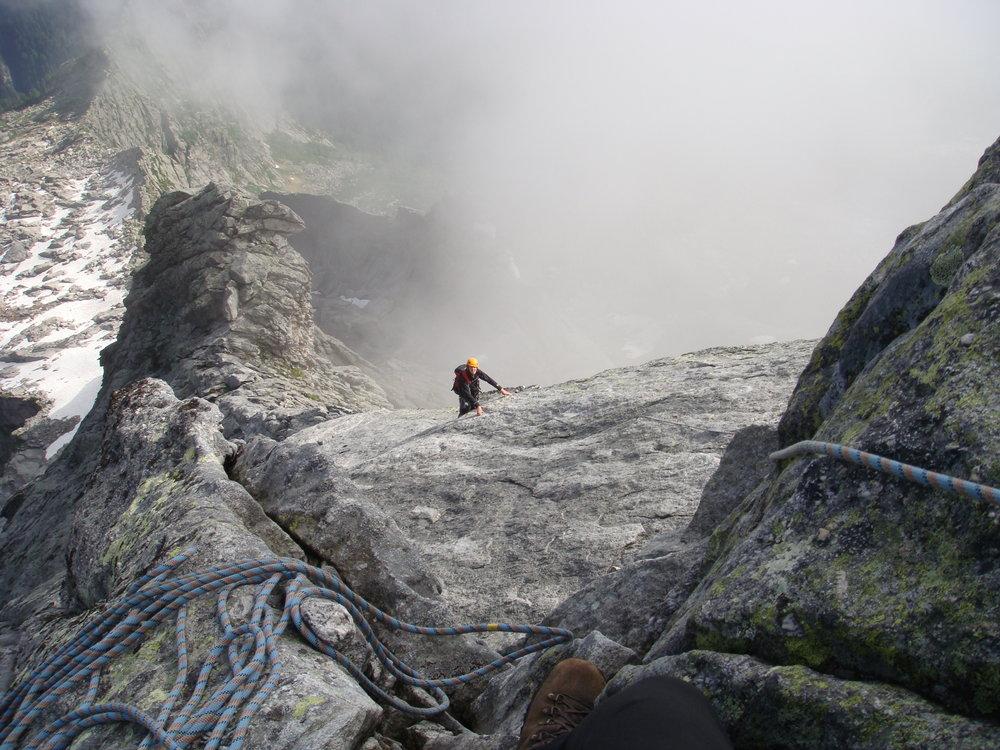 Low down on the north ridge of Piz Badile., 179 kb