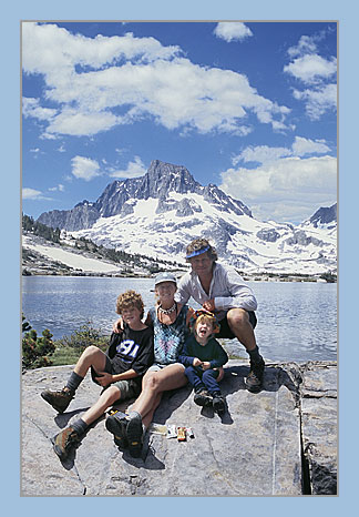 Vern Clevenger and family, Sierra Nevada, California, 53 kb