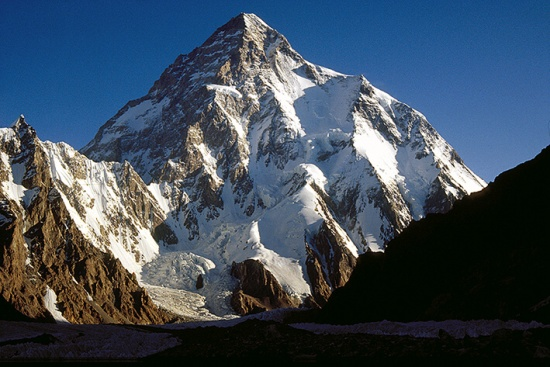 K2, the world's 2nd highest peak, 93 kb