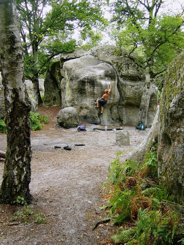 Bas Cuvier bouldering, Fontainebleau, 221 kb