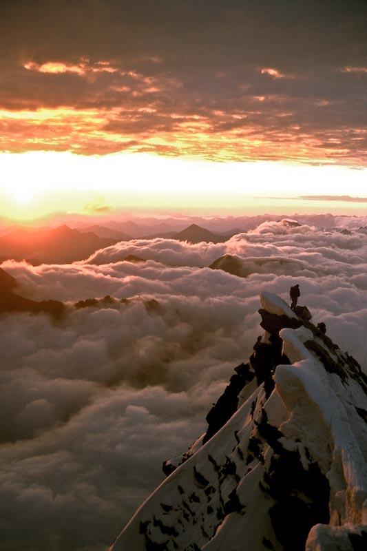 Alpine dawn, Gross Glockner, Austria