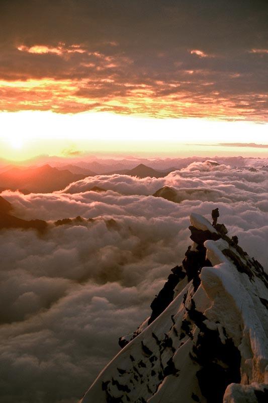 Alpine dawn, Gross Glockner, Austria  , 74 kb