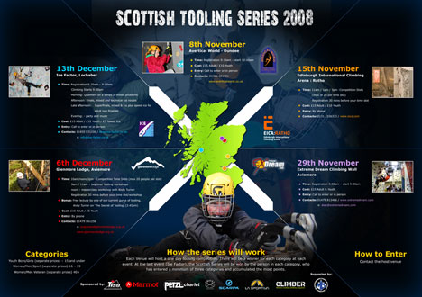 GLENMORE LODGE: Scottish Tooling Series 2008, Courses, holidays, expeditions, accommodation Premier Post, 6 weeks at £35p, 48 kb