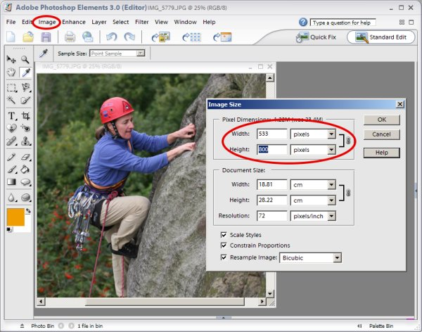 Photoshop Elements v3 on a PC