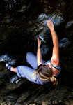 Shauna Coxsey climbing Jerry's Roof, Llanberis Pass, 4 kb