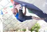 Stew Watson competing in the final round (Munich) of the 2012 Bouldering World Cup, 4 kb