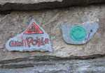 The routes have beautifully painted name plaques at the base