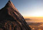 Eiger Mittellegi ridge at sunset