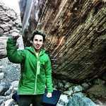 Carlo Traversi in front of Meadowlark lemon, 8C, Red Rocks, Nevada, 7 kb