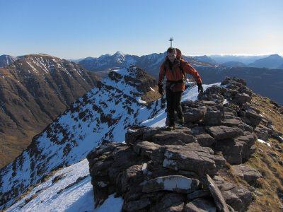 Beinn Dearg and Liathach from Beinn Alligin's highest Horn, 4 kb