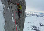 Andy Kirkpatrick on the Eiger North Face, 3 kb