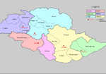 Districts in Gilgit Baltistan - The Diamir District is the peach colored area on the bottom, 3 kb