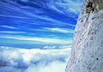 Brian Bigger high on the Rabado-Navarro, Naraja de Bulnes, Picos de Europa