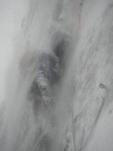 Rob on Gargoyle Wall, Ben Nevis