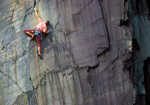 Steve Mclure on the Dark Half, Llanberis Slate quarries