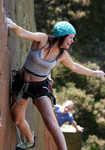 Emma Twyford enjoying herself on London Wall E5 6a, Millstone 4, 4 kb