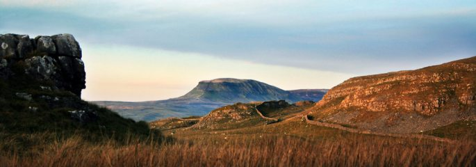 Pen-y-ghent in late afternoon light
