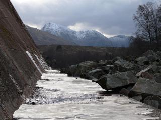 Buachaille Etive Mor from the Blackwater Dam