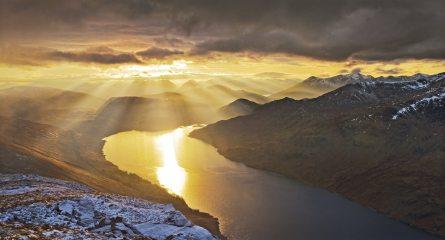 New years day sunset on Loch Treig