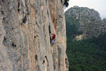 Me climbing at El Chorro