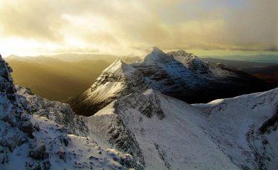 Liathach from North ridge Spidean Coire nan Clach(Beinn Eighe)