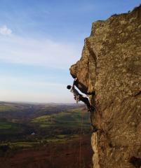 Unknown Climber on L'Horla E1 5b, Curbar