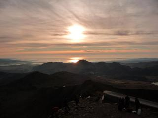 the sun sets on 2008 from the top of Y Wyddfa