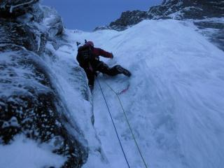 good ice pitch on west gully