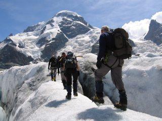 Glacial fun and games (below Breithorn)