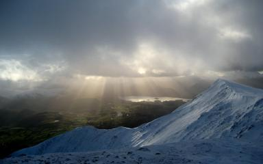 View from Blencathra summit